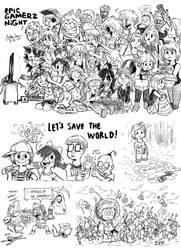 .:Art Challenge:. Epic Gamerz by Josh-S26