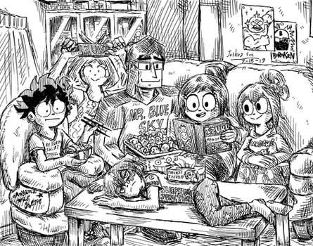 The Dekusquad visits Izuku's house