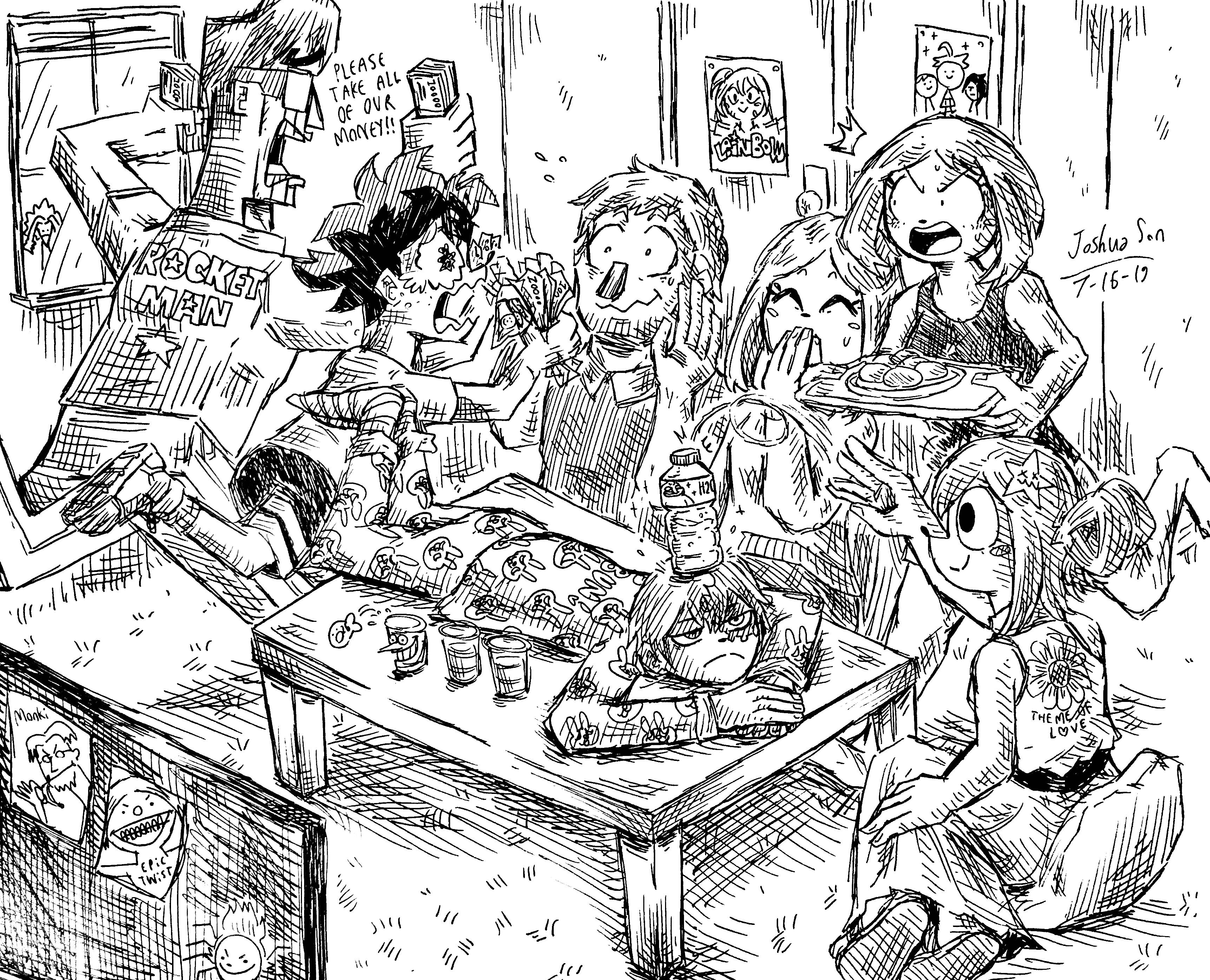 The Dekusquad visits Ochako's house