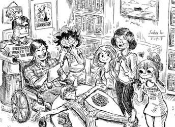 The Dekusquad visits Iida's house by Josh-S26