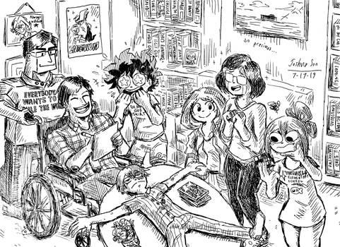 The Dekusquad visits Iida's house
