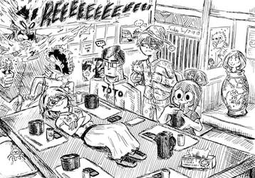 The Dekusquad visits Todoroki's house