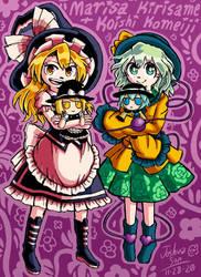 .:Commission:. Marisa + Koishi