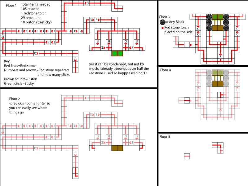 blueprints for hidden elevator by c0ol3st