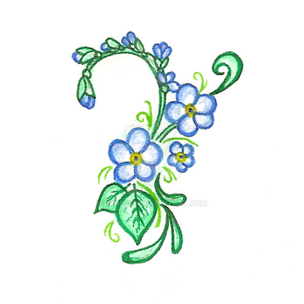 Forget Me Not Tattoo By Runeelf On Deviantart
