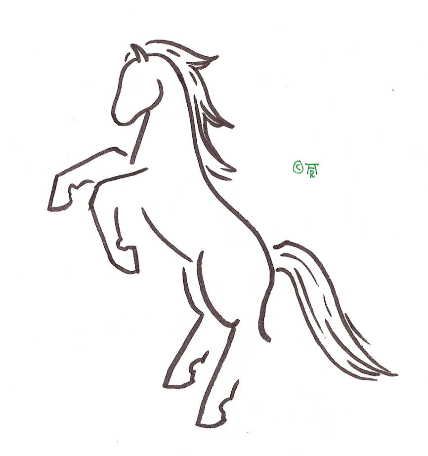 Horse Tattoo Outline Bing Images