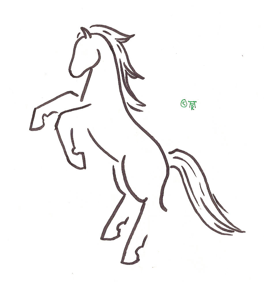 rearing horse tattoo by runeelf on deviantart