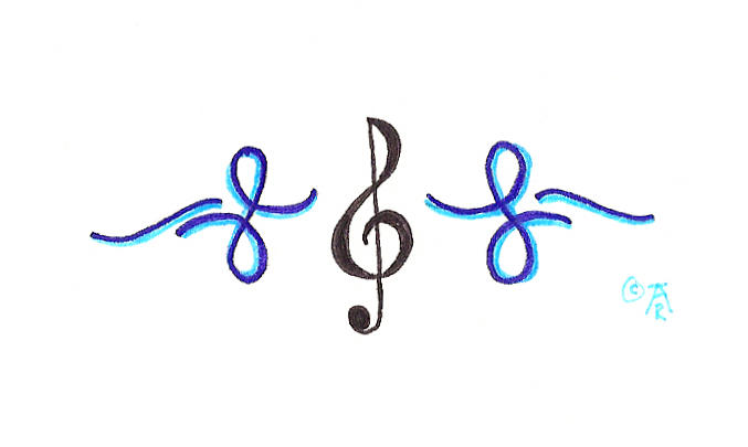 treble clef tattoos. treble clef tattoos.