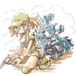 Fio Metal Slug Fanart Speedrawing