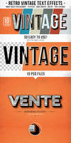 Retro Vintage Text Effects by AdaTober