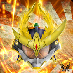 Kamen Rider Gaim Kachidoki Arms Helmet(Remake) by Little-Bas