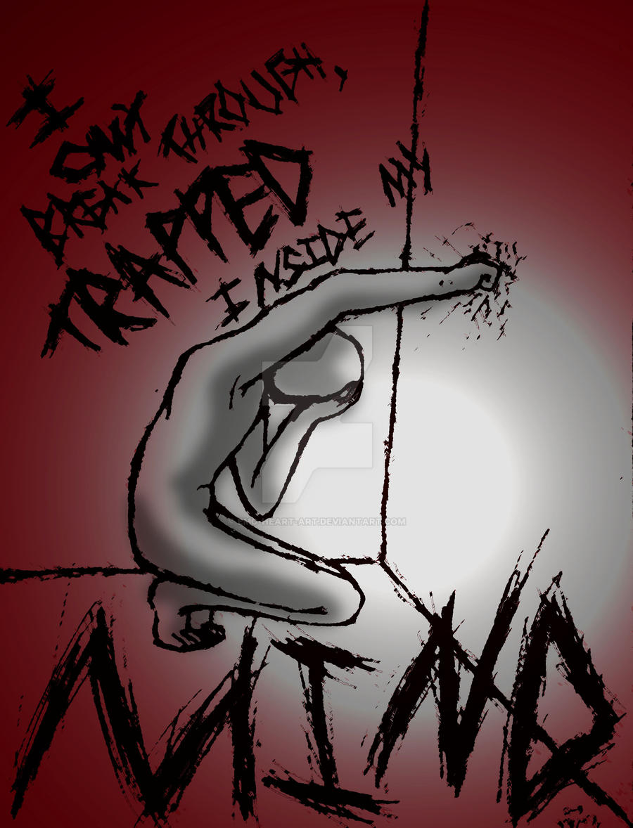 Trapped By Emo Heart Art