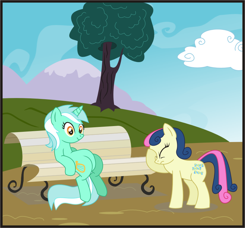 Lyra Sitting Vector Lyra and Bon Bon by Go...