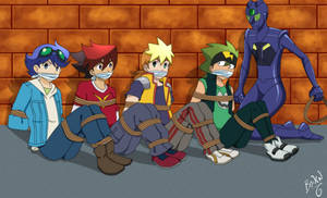 Tenkai Knights Tied up and Gagged