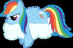 Sulking Rainbow Dash