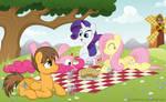 Commission: Enjoying a lovely picnic