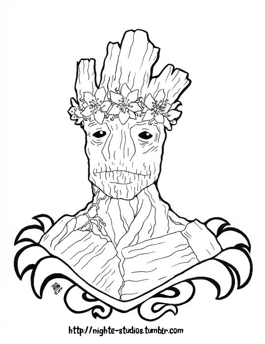 Flower Groot by nighte-studios