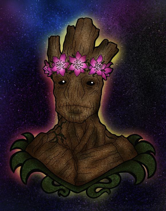 Groot in living Color by nighte-studios