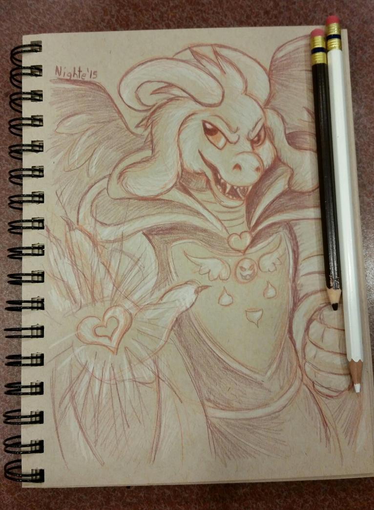 Asriel Sketch by nighte-studios