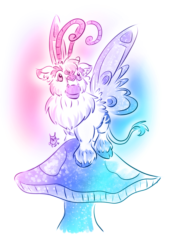 Faebelina inspired Talbuk pet by nighte-studios