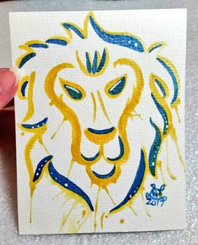 Alliance Lion Watercolor