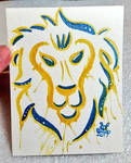 Alliance Lion Watercolor by nighte-studios