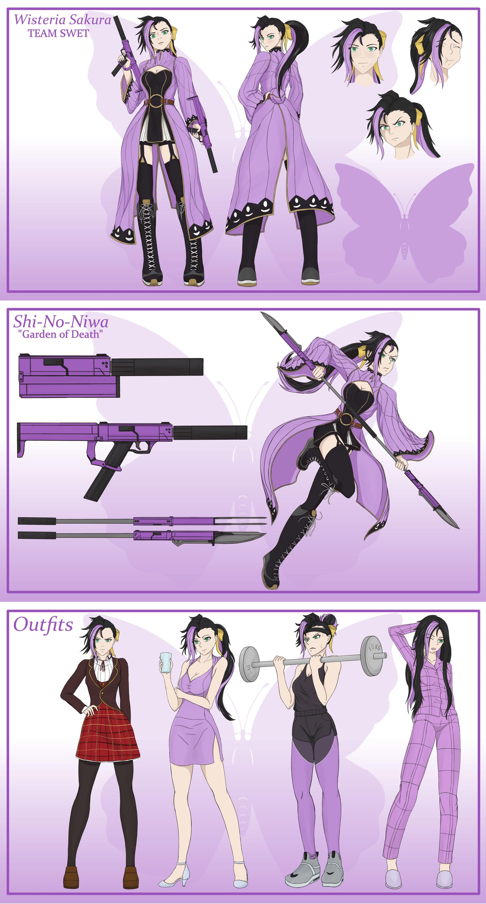 RWBY OC) Team SWET - Wisteria Sakura profile by Xsanaty on DeviantArt