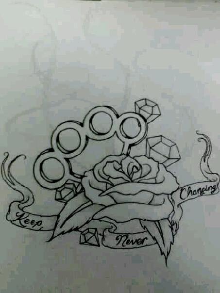 Brass Knuckles Rose Tattoo Best Tattoo Ideas