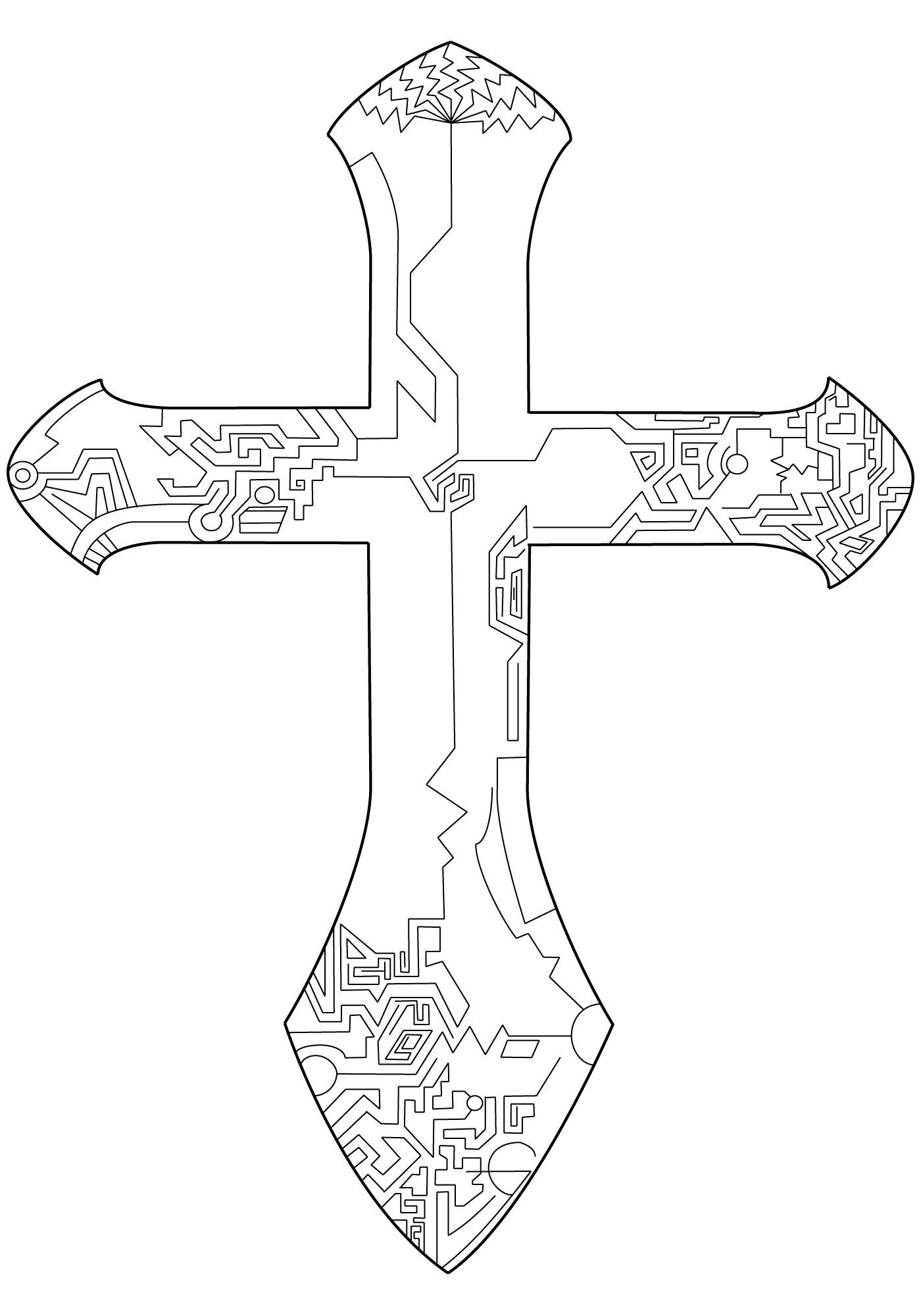 circuit board cross by spitfire1686 on deviantart