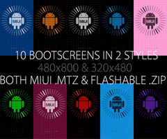 10 Bootscreens in 2 Styles for all ROMs by melissapugs