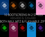 10 Bootscreens in 2 Styles for all ROMs