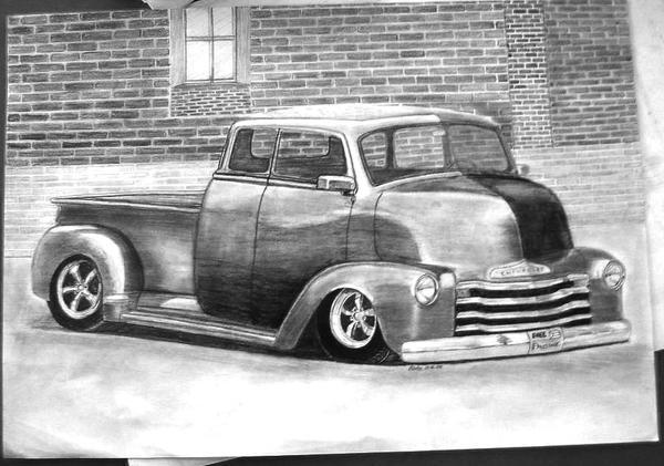 chevrolet truck lowrider 1948 by mehmetmumtazLowrider Chevy Truck Drawings