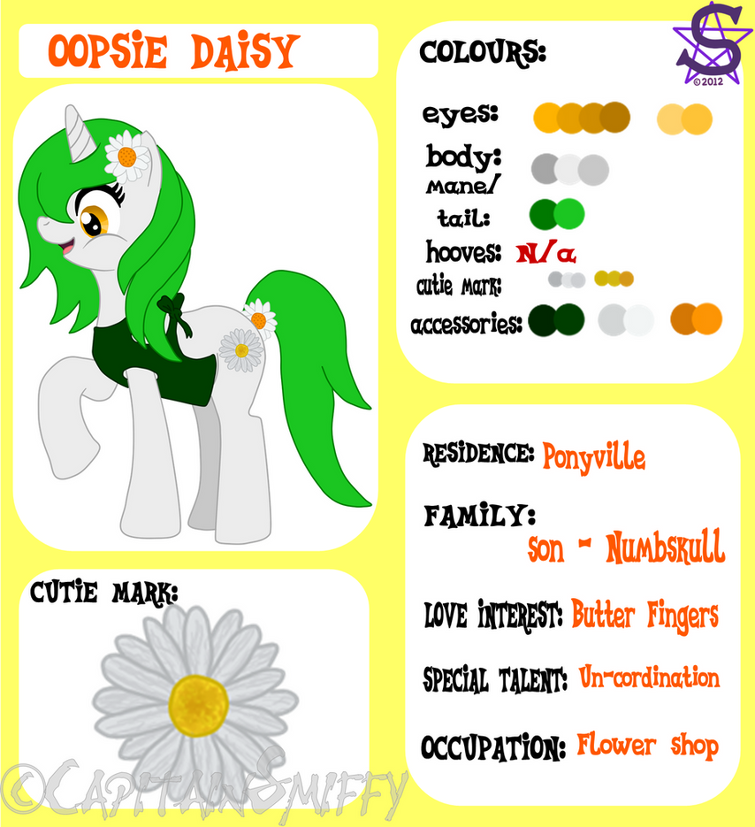 Mlp Oopsie Daisy Ref By Capitainsmiffy On Deviantart