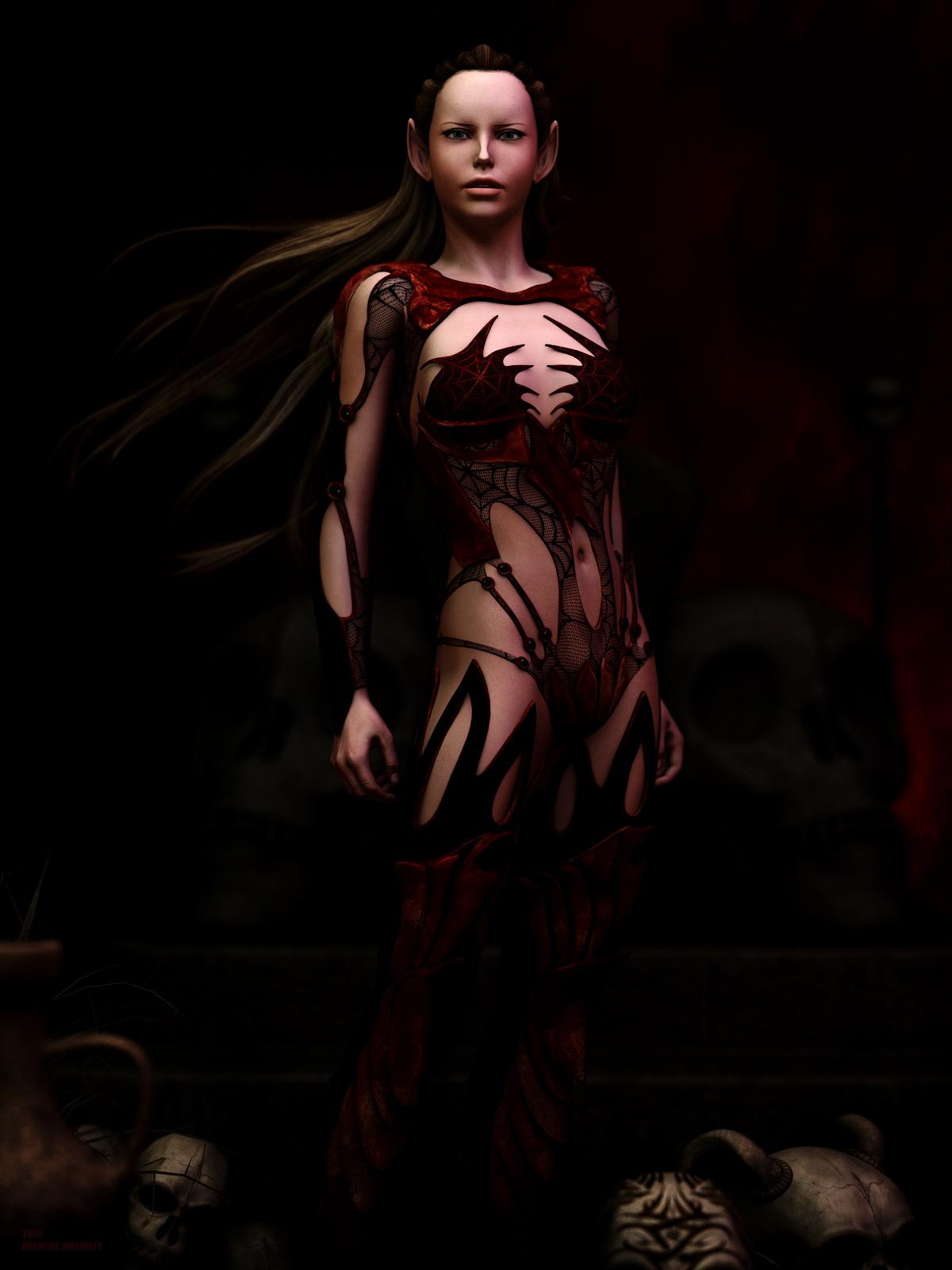 Dark Elf Queen by Virtual-Fox
