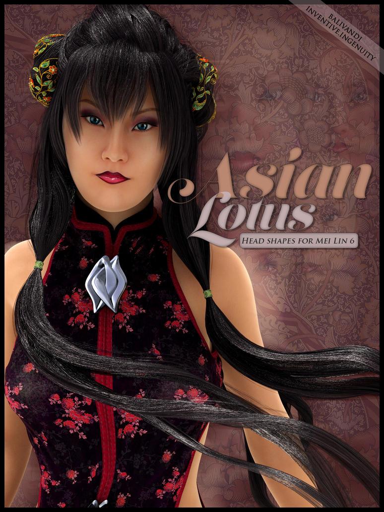 Asian Lotus - Head Shapes for Mei Lin 6 by Balivandi