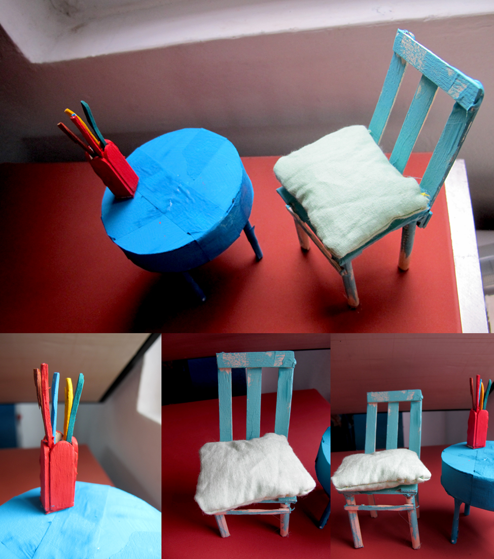 ... Tiny Table And Chair From Ice Cream Sticks 3 By Vucam