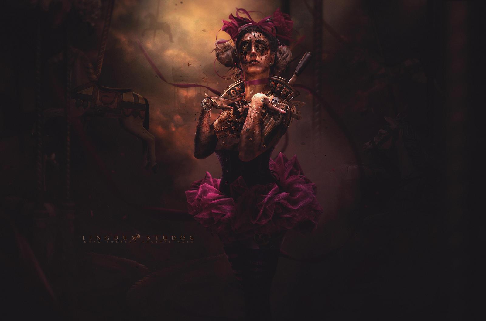 Oxidized Dolless # 5 Clown by LINGDUMSTUDOG