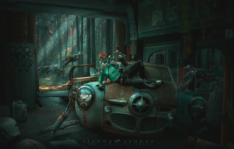 Wrench garage by LINGDUMSTUDOG