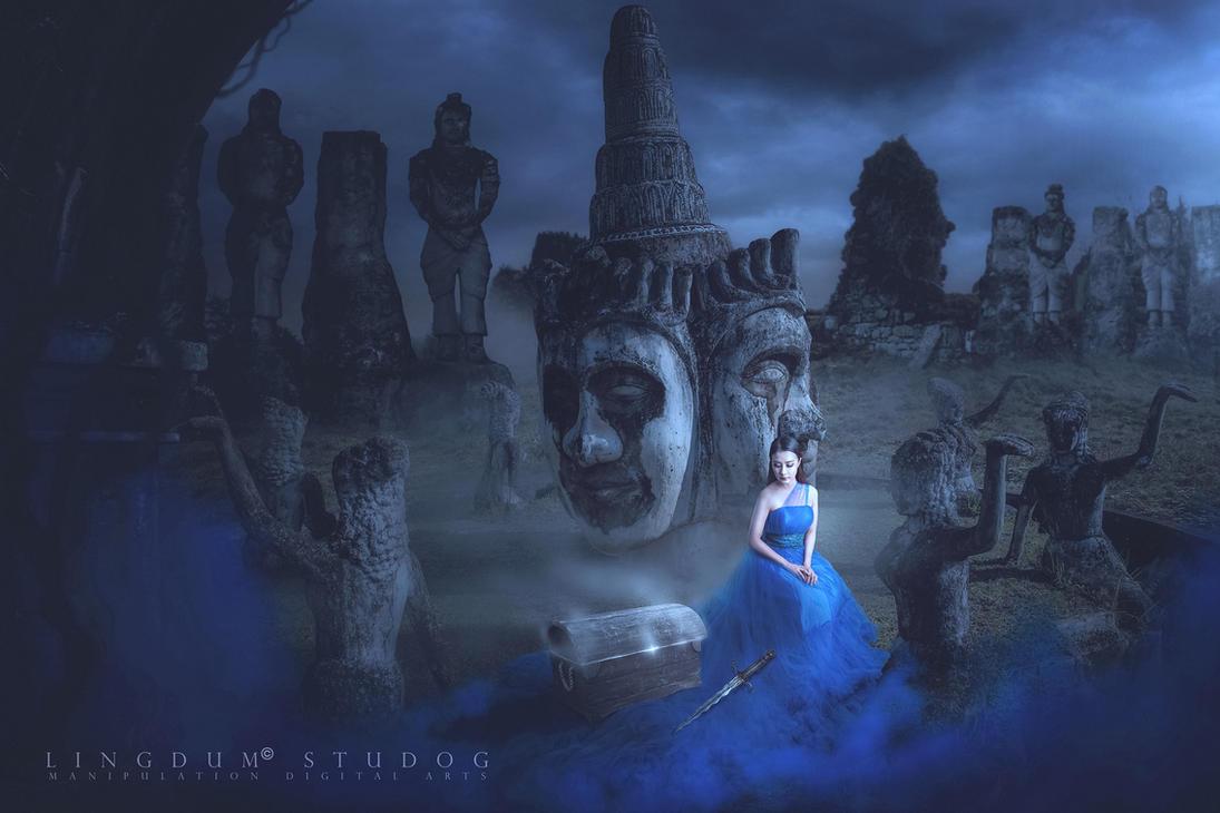 Buddha park treasure box by LINGDUMSTUDOG