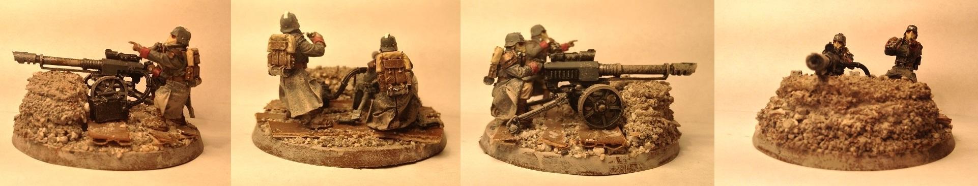 Death Korps of Krieg Lascannon Team by Usafkid94