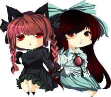 PCM:Orin and Utsuho by Futella