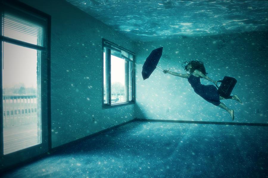 Surreal underwater room by richworks