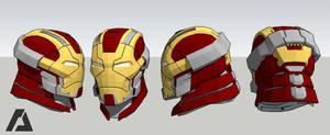 Mark 17 Helmet - Iron Man by ArlockArt