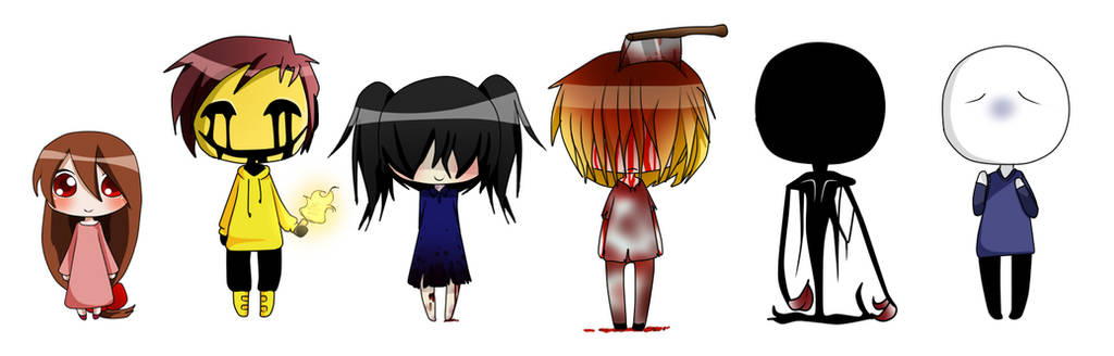 Creepypasta OC collection 1 by Chibi-Works
