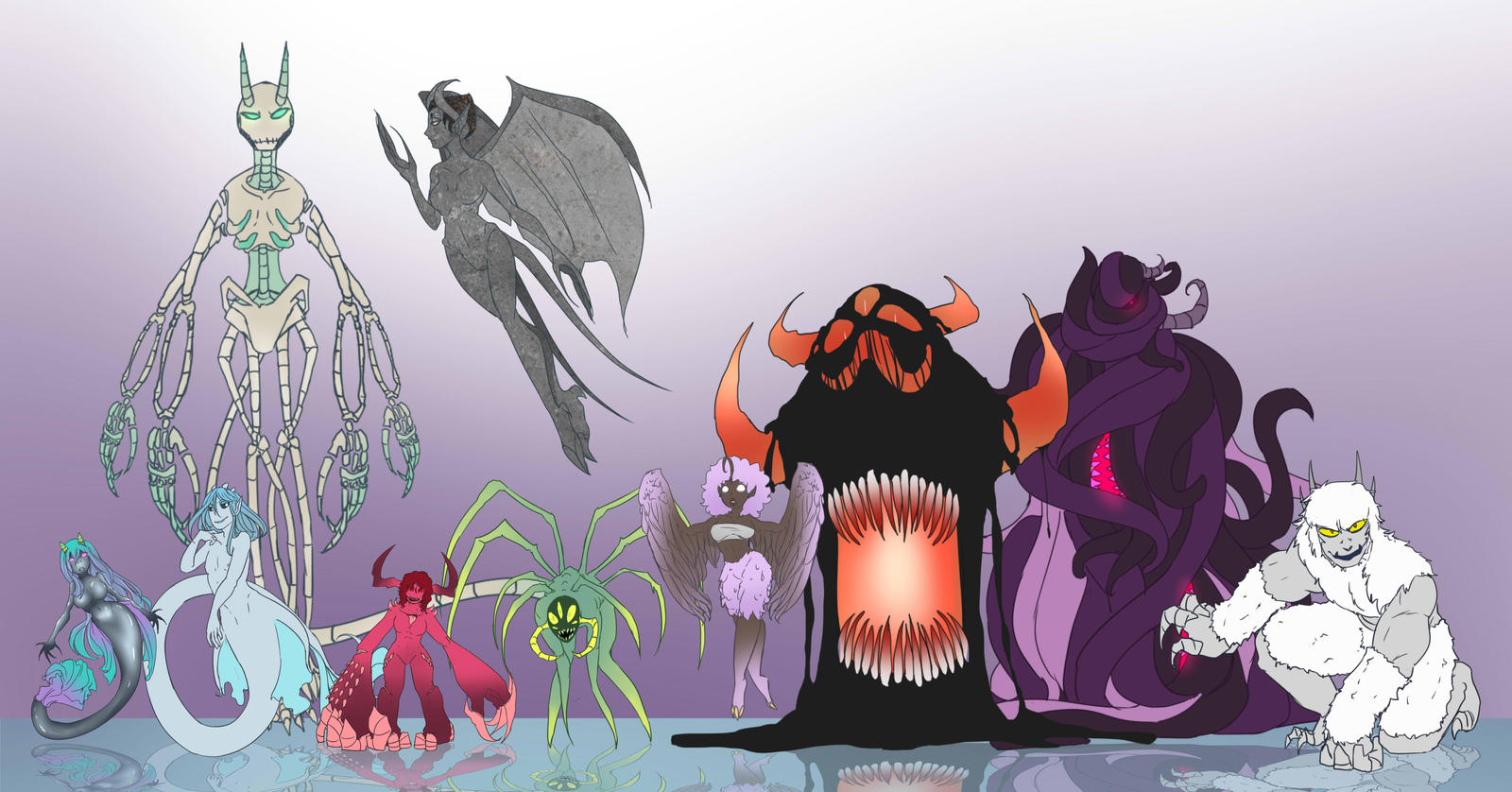 Teragoid Demon Forms by Chibi-Works