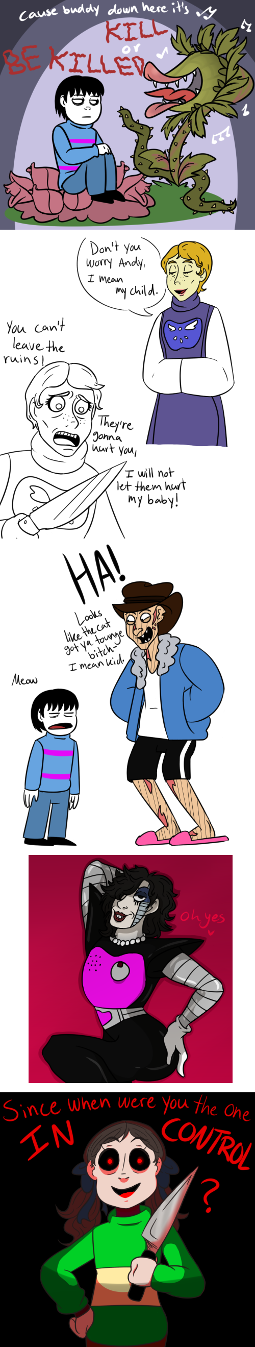 Horror movie characters as Undertale characters AU by Bakhtak on