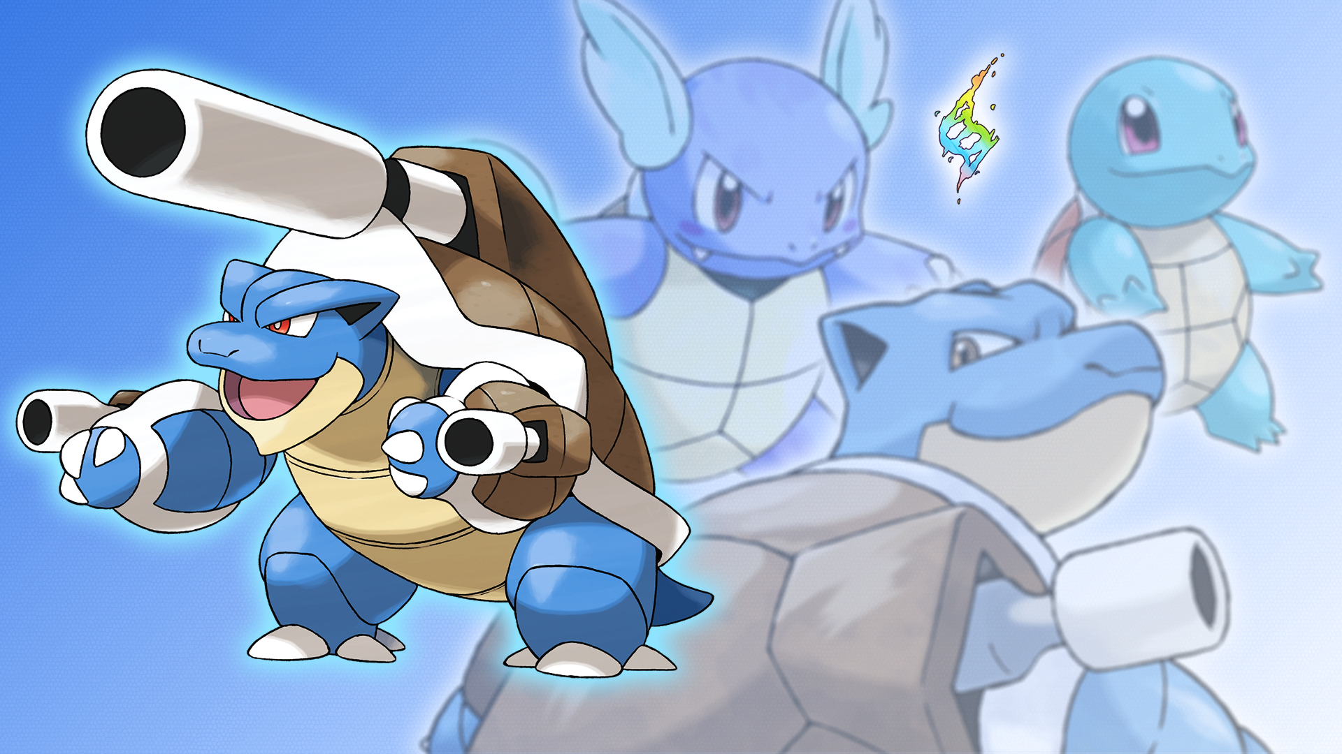 squirtle wartortle blastoise and mega wallpaper by
