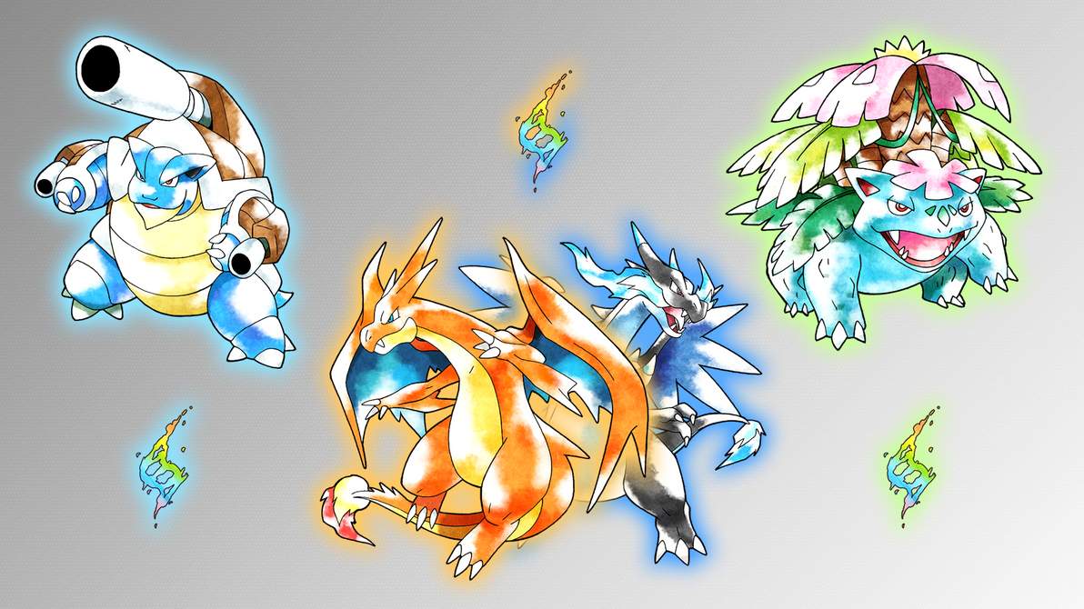 Image Gallery kanto starters
