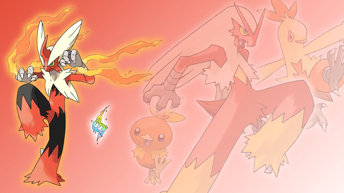 Torchic Combusken Blaziken Mega Evolution Wallpaper
