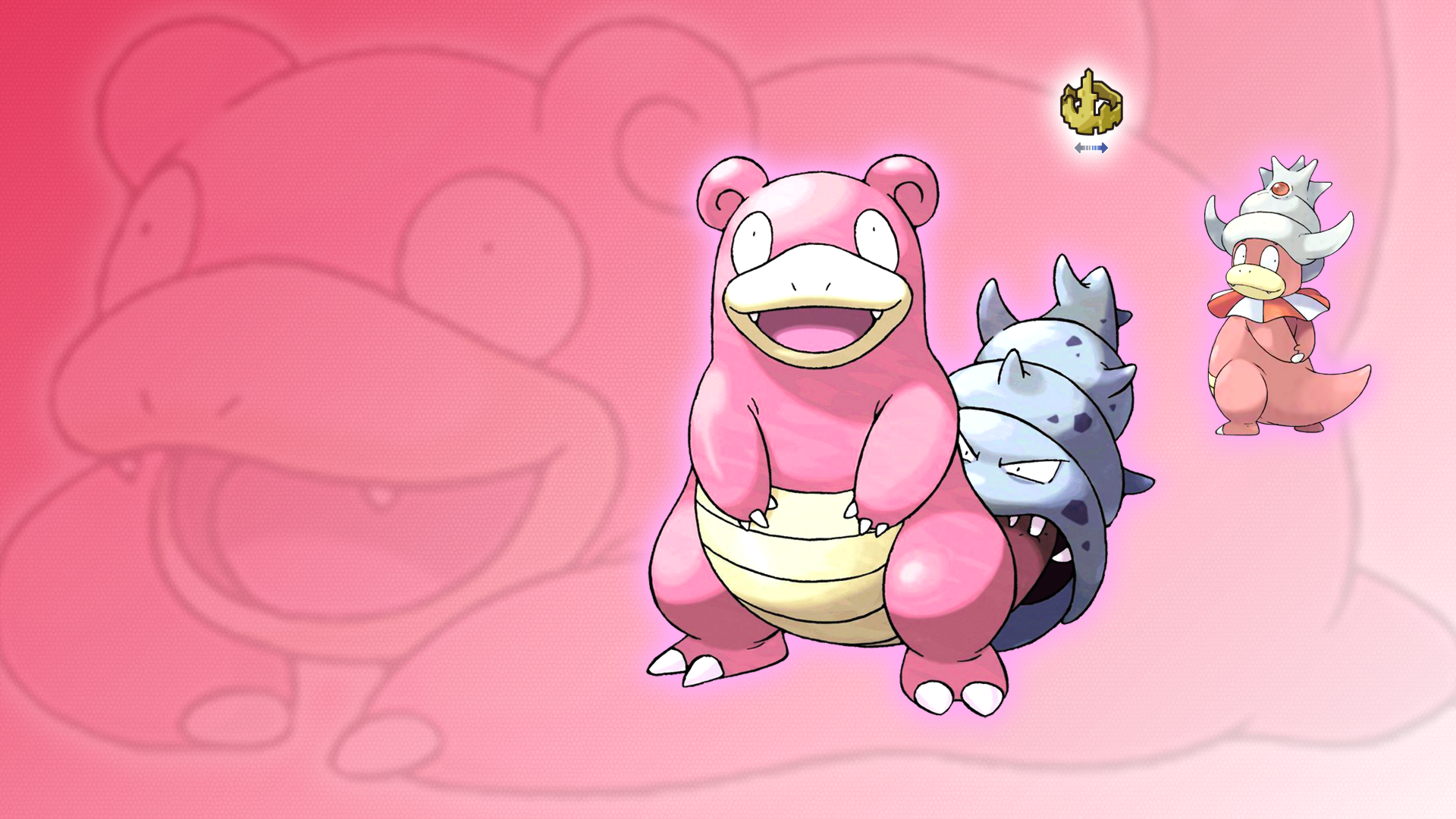 Slowpoke, Slowbro and Slowking Wallpaper by Glench on ...